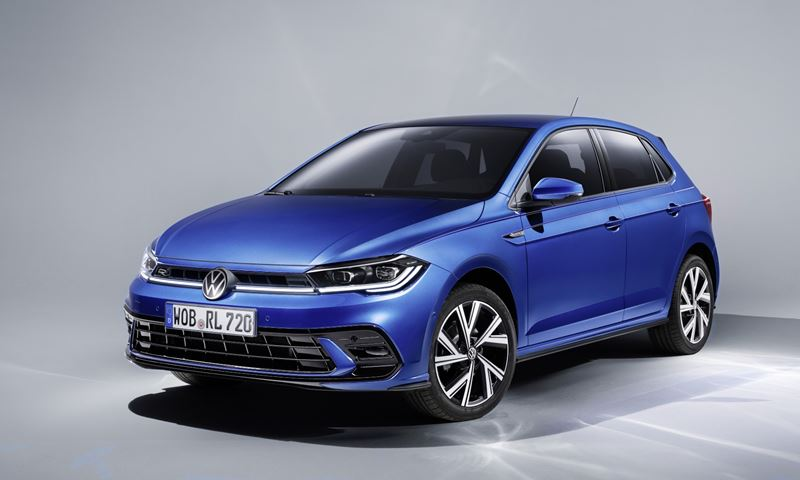 VW Polo 2021 Linksvoor Blauw