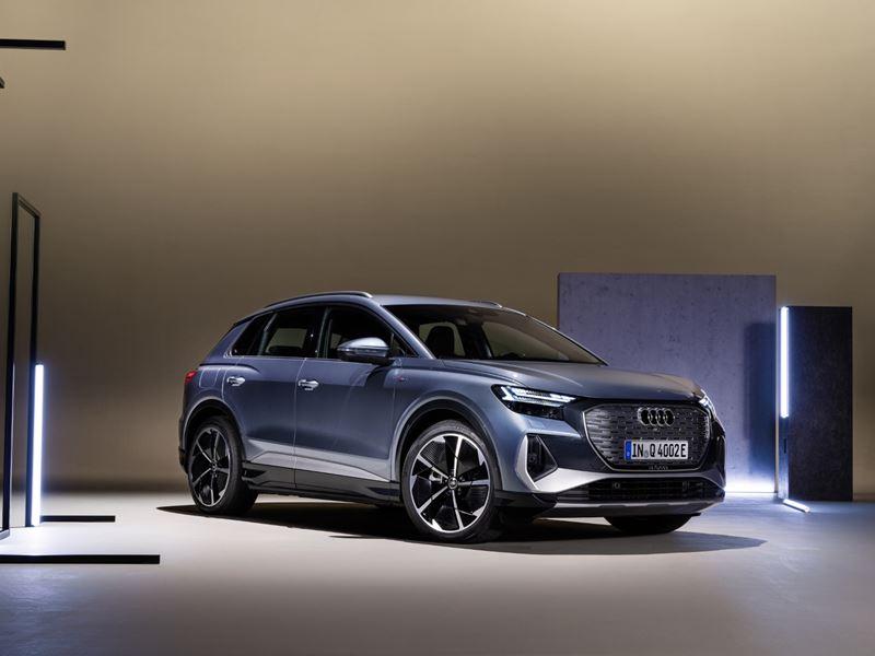 Audi Q4 e-tron blauw front